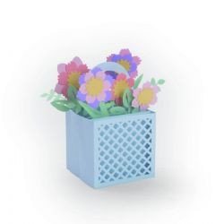 663578 - Sizzix Thinlits Die Set 12PK - Card in a Box, Flower Basket by Lynda Kanase